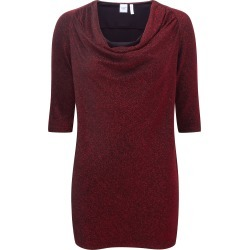 Cotton Traders Women's Sparkle Jersey Cowl Neck Tunic in Red found on Bargain Bro UK from Cotton Traders