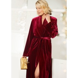 Cotton Traders Women's Luxury Dressing Gown in Red found on MODAPINS from Cotton Traders for USD $57.18