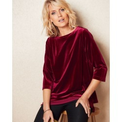 Cotton Traders Women's Velour Top in Red found on Bargain Bro UK from Cotton Traders