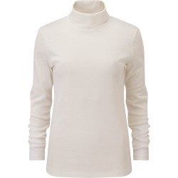 Cotton Traders Women's Supersoft Roll Neck Top in Cream found on Bargain Bro UK from Cotton Traders