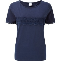 Cotton Traders Women's Crochet Detail T-shirt in Blue found on Bargain Bro UK from Cotton Traders