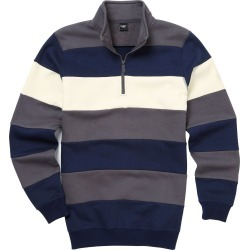 Cotton Traders Stripe Sweatshirt in Grey found on Bargain Bro UK from Cotton Traders