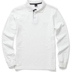 Cotton Traders Long Sleeve Polo Shirt in White found on Bargain Bro UK from Cotton Traders