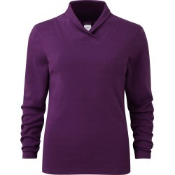 Cotton Traders Women's Shawl Neck Interlock Top in Red found on Bargain Bro UK from Cotton Traders