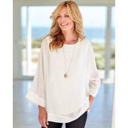 Cotton Traders Women's Layered Top in Cream found on Bargain Bro UK from Cotton Traders