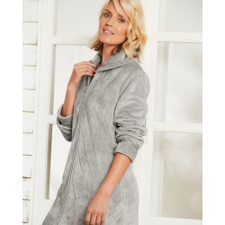 Cotton Traders Women's Fluffy Dressing Gown in Grey found on MODAPINS from Cotton Traders for USD $50.83