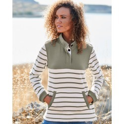 Cotton Traders Women's Stripe Sweatshirt in Green found on Bargain Bro UK from Cotton Traders