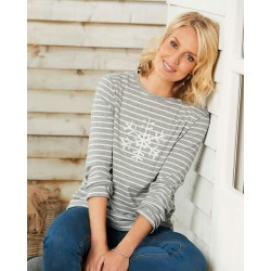 Cotton Traders Women's Printed Top in Cream found on Bargain Bro UK from Cotton Traders