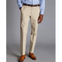 Smart Non-Iron Cotton Chino Trousers - Stone Size W36 L30 by Charles Tyrwhitt found on Bargain Bro UK from charles tyrwhitt shirts eu