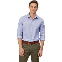 Cotton Extra Slim Fit Soft Washed Textured Grid Check Sky Blue Shirt found on Bargain Bro UK from Charles Tyrwhitt (UK)