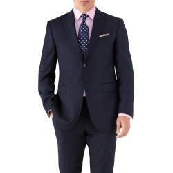 Navy Classic Fit Peak Lapel Twill Business Suit Wool Jacket Size 42 by Charles Tyrwhitt found on Bargain Bro India from Charles Tyrwhitt for $189.00