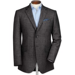 Slim Fit Grey Birdseye Lambswool Wool Jacket Size 36 by Charles Tyrwhitt found on Bargain Bro India from Charles Tyrwhitt for $199.00