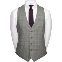 Wool Grey Prince Of Wales Adjustable Fit Panama Business Suit Waistcoat found on Bargain Bro UK from Charles Tyrwhitt (UK)