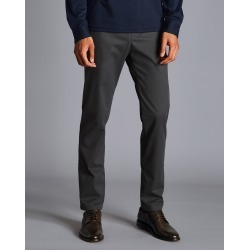 Ultimate Non-Iron Cotton Chino Trousers - Charcoal Size W34 L38 by Charles Tyrwhitt found on Bargain Bro UK from charles tyrwhitt shirts eu