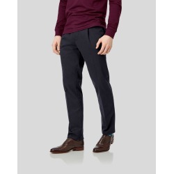Single Pleat Soft Washed Cotton Chino Pants - Navy Size W86 L86 by Charles Tyrwhitt found on Bargain Bro UK from Charles Tyrwhitt (AU)