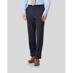 Navy Classic Fit Twill Business Suit Wool Pants Size W32 L38 by Charles Tyrwhitt found on Bargain Bro India from Charles Tyrwhitt for $90.00