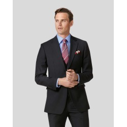 Twill Business Suit Wool Jacket - Black Size 44S Short by Charles Tyrwhitt found on Bargain Bro UK from Charles Tyrwhitt (AU)