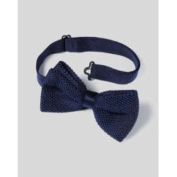Navy Silk Knitted Ready-Tied Bow Tie Size OSFA by Charles Tyrwhitt found on MODAPINS from Charles Tyrwhitt (UK) for USD $38.65
