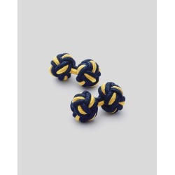 Viscose/elastane Knot Cufflinks - Navy & Gold found on MODAPINS from Charles Tyrwhitt (UK) for USD $6.98