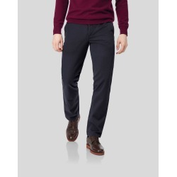Flat Front Soft Washed Cotton Chino Trousers - Navy Size W30 L34 by Charles Tyrwhitt found on Bargain Bro UK from charles tyrwhitt shirts eu