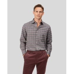 Cotton Tencel Classic Fit Cotton With Tencel™ Orange And Grey Prince Of Wales Check Shirt found on Bargain Bro UK from Charles Tyrwhitt (UK)