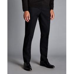 Smart Non-Iron Cotton Chino Trousers - Black Size W36 L34 by Charles Tyrwhitt found on Bargain Bro UK from charles tyrwhitt shirts eu