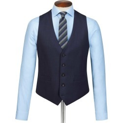 Wool Navy Slim Fit Sharkskin Travel Suit Waistcoat found on Bargain Bro UK from Charles Tyrwhitt (UK)