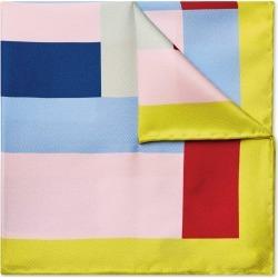 Multi Large Geo Print Silk Pocket Square Size OSFA by Charles Tyrwhitt found on Bargain Bro UK from charles tyrwhitt shirts eu