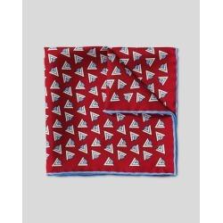 Retro Triangle Print Silk Pocket Square - Red & Sky Size OSFA by Charles Tyrwhitt found on Bargain Bro UK from charles tyrwhitt shirts eu
