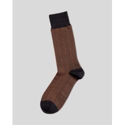 Jacquard Herringbone Socks - Navy & Orange Size Large by Charles Tyrwhitt found on Bargain Bro UK from charles tyrwhitt shirts eu