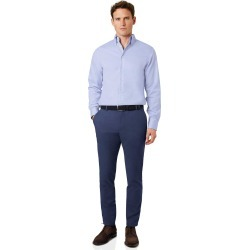 Ultimate Non-Iron Cotton Chino Pants - Blue Size W76 L86 by Charles Tyrwhitt found on Bargain Bro UK from Charles Tyrwhitt (AU)