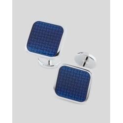 Enamel Square Cufflinks - Blue by Charles Tyrwhitt found on Bargain Bro UK from charles tyrwhitt shirts eu