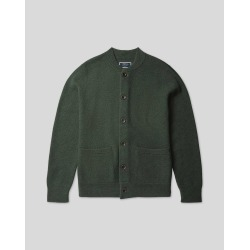 Brushed Wool Bomber Jacket - Forest Green Size Small by Charles Tyrwhitt found on Bargain Bro UK from Charles Tyrwhitt (AU)