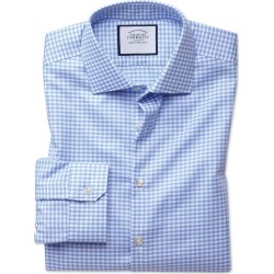 Cotton Super Slim Fit Business Casual Non-Iron Modern Textures Sky Blue Shirt found on Bargain Bro UK from Charles Tyrwhitt (UK)