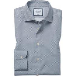 Cotton Extra Slim Fit Non-Iron Circle Print Navy Shirt found on Bargain Bro UK from Charles Tyrwhitt (UK)
