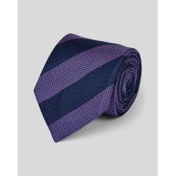Silk Block Stripe Classic Tie - Lilac & Navy Size OSFA by Charles Tyrwhitt found on Bargain Bro UK from charles tyrwhitt shirts eu