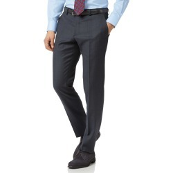 Steel Blue Slim Fit Twill Business Suit Wool Pants Size W34 L32 by Charles Tyrwhitt found on Bargain Bro India from Charles Tyrwhitt for $100.00