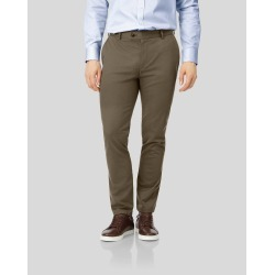 Ultimate Non-Iron Cotton Chino Trousers - Mocha Size W42 L38 by Charles Tyrwhitt found on Bargain Bro UK from charles tyrwhitt shirts eu