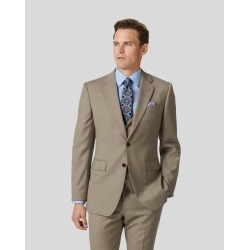 Twill Business Suit Wool Jacket - Fawn Size 40S Short by Charles Tyrwhitt found on Bargain Bro UK from Charles Tyrwhitt (AU)