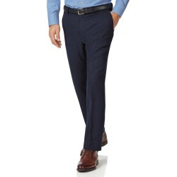 Navy Slim Fit Wool Flannel Trousers Size W86 L81 by Charles Tyrwhitt found on Bargain Bro UK from Charles Tyrwhitt (AU)