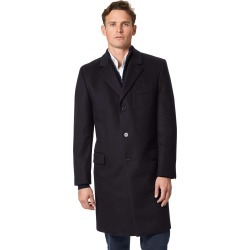 Navy Italian Wool and Cashmere OverWool/cashmere coat Size 36 by Charles Tyrwhitt found on Bargain Bro India from Charles Tyrwhitt for $399.00