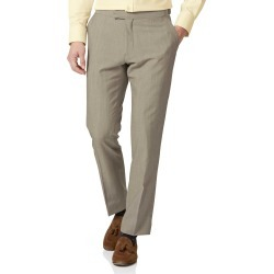 Wool Natural Panama Slim Fit British Suit Trousers found on Bargain Bro UK from Charles Tyrwhitt (UK)