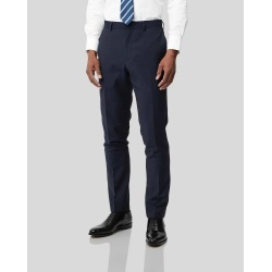 Wool Business Suit Textured Trousers - Navy found on Bargain Bro UK from Charles Tyrwhitt (UK)