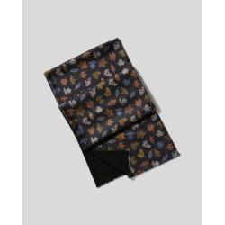 Silk Leaf Print Scarf - Black Size OSFA by Charles Tyrwhitt found on Bargain Bro UK from charles tyrwhitt shirts eu