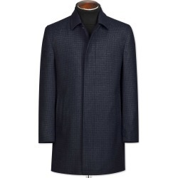 Navy Houndstooth Wool Car Wool Coat Size 40 by Charles Tyrwhitt found on Bargain Bro India from Charles Tyrwhitt for $199.00