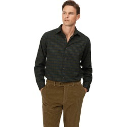 Cotton Classic Fit Winter Flannel Tartan Green Check Shirt found on Bargain Bro UK from Charles Tyrwhitt (UK)