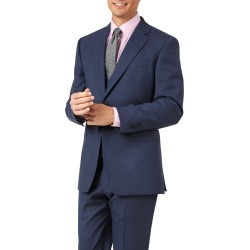Wool Airforce Blue Slim Fit Sharkskin Travel Suit Jacket found on Bargain Bro UK from Charles Tyrwhitt (UK)