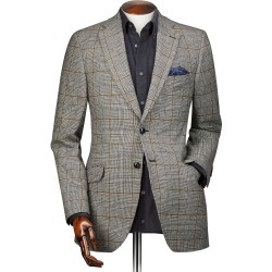 Slim Fit Black Prince Of Wales Checkered Wool Cotton/Cashmere Jacket Size 42 by Charles Tyrwhitt found on Bargain Bro India from Charles Tyrwhitt for $199.00
