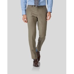 Twill Business Suit Trousers - Fawn Size W97 L97 by Charles Tyrwhitt found on Bargain Bro UK from Charles Tyrwhitt (AU)