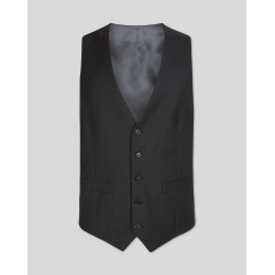 Wool Twill Business Suit Waistcoat - Charcoal found on Bargain Bro UK from Charles Tyrwhitt (UK)